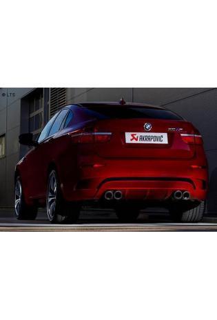 Akrapovic Sportauspuffanlage ab Kat. mit Titan-Endschalldämpfer mit 2x2 Carbon-Endrohren inkl. Titan -Verbindungsrohren - BMW X6 M Bj. 09-10
