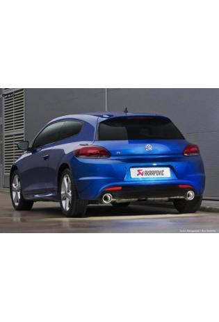 Akrapovic Sportauspuff zwei Edelstahl-Endschalldämpfer mit Carbon-Endrohren - VW Scirocco III R ab Bj. 09