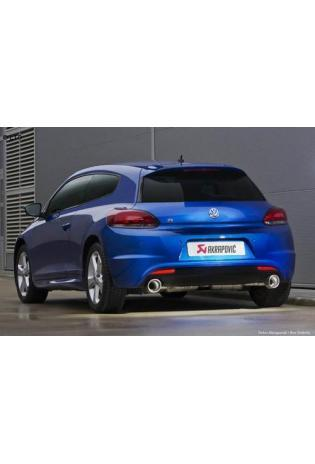 Akrapovic Sportauspuff zwei Edelstahl-Endschalldämpfer mit Titan-Endrohren - VW Scirocco III R ab Bj. 09