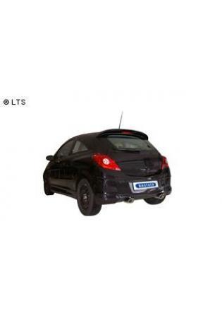 BASTUCK Komplettanlage inkl. Kat Opel Corsa D ab Bj. 06  1.6l GSI (Fzge. mit Euro 4 Norm)  rechts links 120x80mm oval mit Einsatz (RohrØ 70mm)
