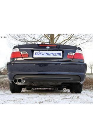 EISENMANN Komplettanlage ab Kat BMW 3er E46 320i  320ci  325i  325ci  330i  330ci - 2 x 76mm gerade poliert RACE VERSION