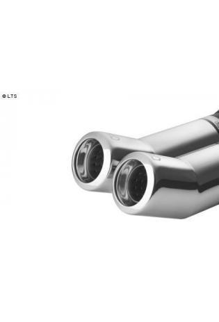 ULTER Sportauspuff BMW 5er E34 Lim. Bj. 87-96 525i - 2 x 80mm hochgezogen