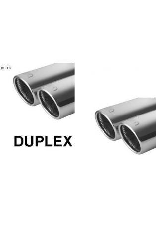 ULTER Sportauspuff Fiat Punto Typ 188 Bj. 99-05 1.2l - rechts links je 2 x 70mm abgeschrägt