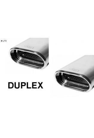 ULTER Sportauspuff Fiat Punto Typ 188 Bj. 99-05 1.8l HGT - rechts links je 1 x 145x75mm flachoval