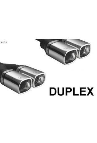 ULTER Sportauspuff Fiat Punto Typ 188 Bj. 99-05 1.9l JTD - rechts links je 2 x 80x65mm rechteckig oval