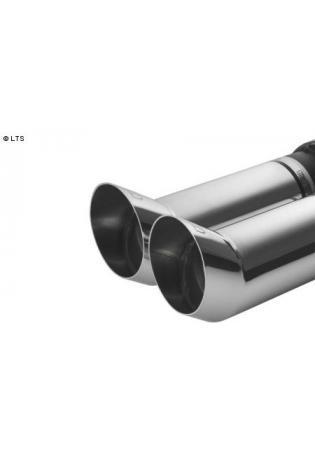 ULTER Sportauspuff Honda Civic 5 Schrägheck 3-türig Bj. 92-96 1.3l  1.5l  1.6l - 2 x 80mm DTM