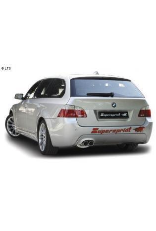 Supersprint Sportauspuffanlage ab Kat. 2x 80 mm Power Loop - BMW 5er E60/E61 545i V8 Bj. 03-06 und 540i V8-550i V8 ab Bj. 06