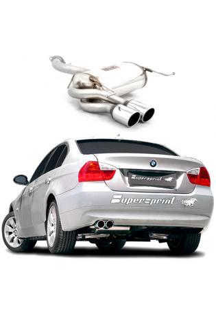 Supersprint Sportauspuff Endschalldämpfer 2x 80mm - BMW 3er E90/E91 325i-325xi-330i-330xi ab Bj. 07