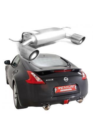 REMUS Sportauspuff Nissan 370Z Coupe u. Cabrio ab Bj. 10 3.7l rechts links je 1 x 127mm schräg