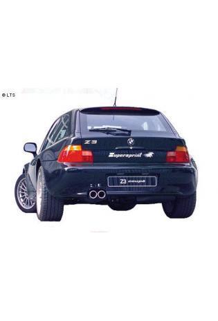 Supersprint Sportauspuffanlage ab Kat. 2x80 rund - BMW Z3 Roadster 2.2i-3.0i-2.5i (USA) Bj. 00-02 und Z3 Coupé 3.0i ab 01
