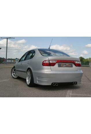 Gestec Sportauspuff Endschalldämpfer 2x80 mm rund, eingerollt rechts-links  Seat Toledo 1M 1,6l/1,8l/1,9l TDI/2,4l (ab Baujahr 1999) LT Neodesign Heckschürze