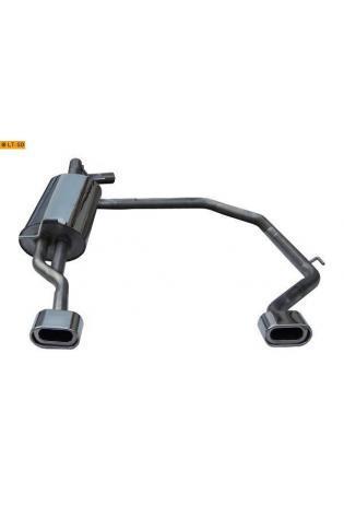 Gestec Sportauspuff Endschalldämpfer 135x80 mm flachoval rechts-links Seat Toledo 1M 1,6l/1,8l/1,9l TDI/2,4l (ab Baujahr 1999) für LT Neodesign Heckschürze