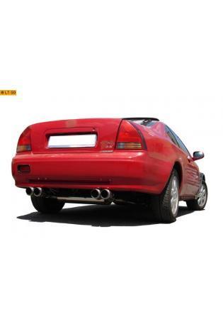FOX Komplettanlage ab Kat Honda Prelude 4 Typ BB2  BB3 Bj. 92-96 2.0l  2.3l - rechts links je 2 x 90mm Racing Look