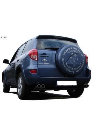 FOX Duplex Komplettanlage ab Kat. Toyota RAV 4 ab Bj. 06 2.2l D-4D  2.2l D-Cat - rechts links je 2 x 80mm eingerollt