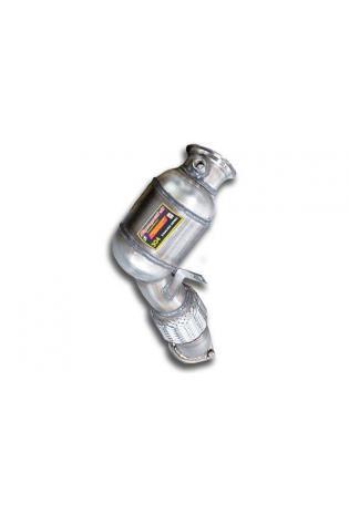 Supersprint Sportauspuff Turbo Downpipe inkl. Metall-Kat. rechts - BMW X6 E71 5.0i ab 08 und X6 E71 M V8 ab 10 und X5 E70 50i u. M V8 ab 10 und 6er F12-F13 Cabrio-Coupé 650i ab Bj. 11 und BMW 7er F01-F02 750i ab Bj. 09 und 5er F07 GT 550i V8 inkl. xDrive