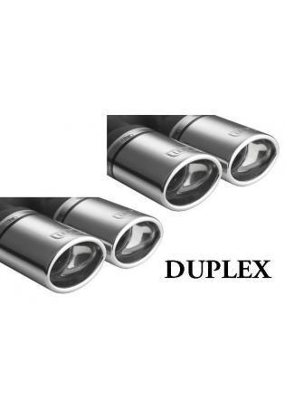 Ulter Duplex Sportauspuff 2 x 95x65mm eingerollt rechts-links -VW Golf IV ab 97 bis 04 1.4l bis 2.0l und 1.9 TDI u. 1.8T und 1.9 SDI