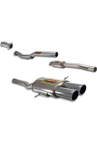 Supersprint Sportauspuffanlage 2x 90mm rund ab Kat. - BMW Mini R56 Cooper S 1.6 ab Bj. 07 und R57 Cooper S Cabrio 1.6 ab Bj. 09