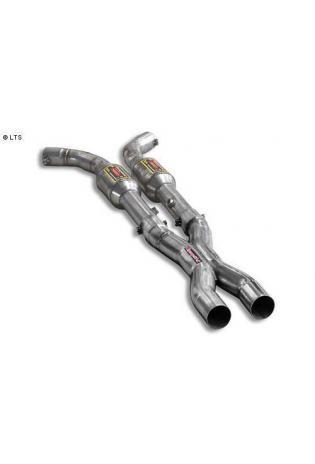 Supersprint Sportauspuff Vorschalldämpfer mit Metall-Kat. und X-Pipe - Chevrolet Corvette C5 5.7 Bj. 97-03 und C6 6.0 ab 04