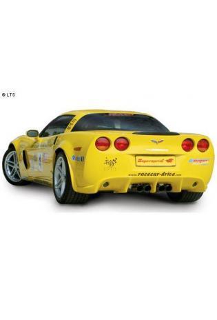 Supersprint Sportauspuff Duplex-Endschalldämpfer rechts-links je 2x 100 mm inklusive Verbindungsrohr - Chevrolet Corvette C6 Z06 7.0i V8 ab 06