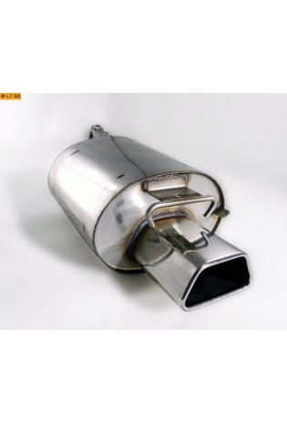 Fox Komplettanlage ab Kat. Mercedes SLK R170 SLK 200  SLK 230  1 x 142x78mm Trapez (RohrØ 63.5mm)