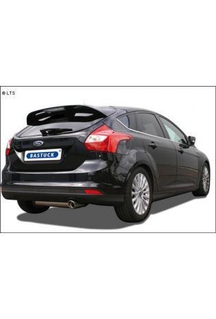 BASTUCK Sportauspuff inkl. Zubehör Ford Focus 3 Turbo ab Bj. 10 1.6l 1 x 90mm mit Einsatz (RohrØ 70mm)