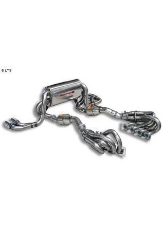 Supersprint Sportauspuff Duplex-Komplettanlage 2x80mm inkl. Kat. - Ferrari 360 Modena Coupé und Spider Bj. 99-05