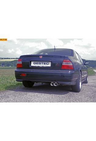 Einzelanfertigung Komplettanlage ab Kat für Honda Accord 5 Coupe CD7 2.2l - 2 x 80mm Eclair rund