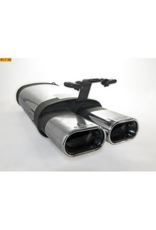 REMUS Edelstahl Endschalldämpfer mit 2 Endrohren 2 x 135x75mm Mercedes Benz SL R129  280SL  300SL  320SL  500SL