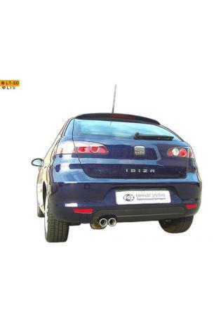 FOX RACING Komplettanlage ab Kat. Seat Ibiza 6L Sport 1.2l  1.4l  1.6l  1.4l TDI  1.9l SDI  1.9l TDI (Mod. mit Stoßstangenausschnitt) - 2 x 70mm