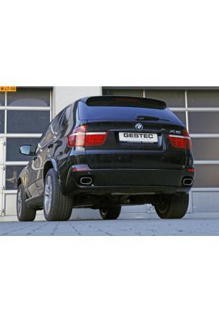 Einzelanfertigung Duplex Endschalldämpfer für BMW X5 E70 - rechts links je 1 ER flachoval