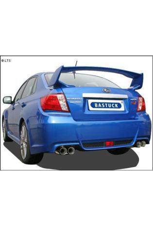 BASTUCK RACING Komplettanlage ab Kat. Subaru Impreza G3 Stufenheck ab Bj. 11 WRX STI Turbo - rechts links je 2 x 85mm (RohrØ 70mm)