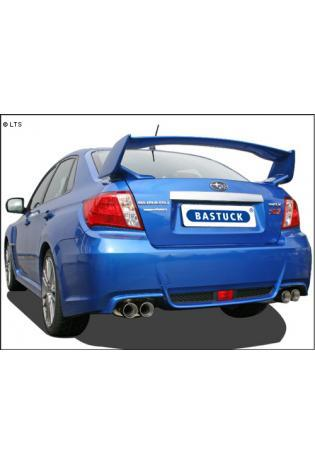 BASTUCK Komplettanlage inkl. Sport-Kat Subaru Impreza G3 Stufenheck ab Bj. 11 WRX STI Turbo - rechts links je 2 x 85mm (RohrØ 70mm)