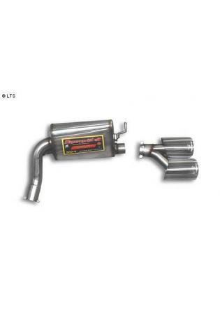 Supersprint Sportauspuff Endschalldämpfer rechts 2x120x80 - Mercedes C219 CLS 500 V8 ab 04