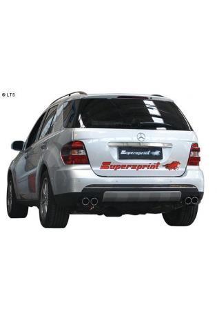 Supersprint Sportauspuff Duplex-Endschalldämpfer rechts-links 2x80 (AnschlußØ 60mm) - Mercedes W164 ML 350 - ML 500 - ML 320 CDi - ML 280 CDi ab 05 u. ML 420 CDi ab 06