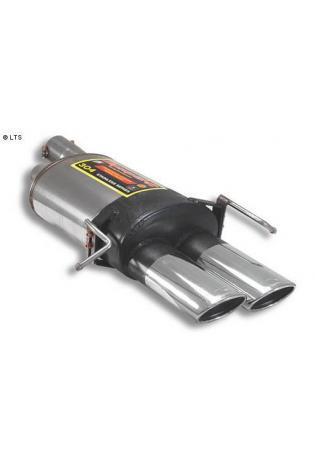 Supersprint Sportauspuff Endschalldämpfer 2x 120x80 oval - Mercedes W203 C30 CDi AMG ab 02 und Mercedes W209 Coupe CLK 55 AMG ab 03