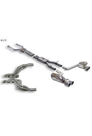 Supersprint Sportauspuff Duplex-Komplettanlage rechts-links je 2x 100 inkl. Fächerkrümmer und Kat. - Mercedes W204 C63 AMG V8 ab 07