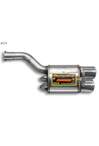 Supersprint Sportauspuff Endschalldämpfer 2x 120x80 - Mercedes R170 SLK 32 V6 AMG Bj. 02-03