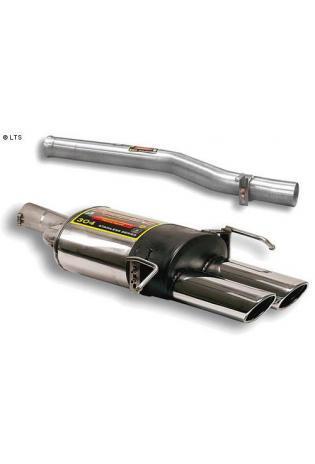 Supersprint Sportauspuffanlage ab Kat. 2x 120x80 oval - Mercedes A209 Cabrio CLK 55 AMG ab 03