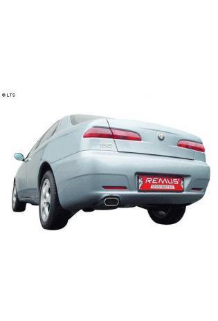REMUS Sportauspuff 135x75mm flachoval Alfa Romeo 156 inkl. Sportwagon 2.5l  2.0l  1.9l JTD  2.4l JTD Edelstahl Endschalldämpfer