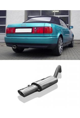 FOX Sportauspuff Audi 80 u. 90 Typ 89 1.6l bis 2.8l  1.6l D  1.6l TD  1.9l TD  1 x 135x80mm flachoval (AnschlussØ 63.5mm)