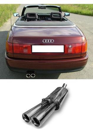 FOX Sportauspuff Endschalldämpfer für Audi 80 u. 90 Typ 89 (Limousine - Cabrio u. Coupe) 2x 76mm