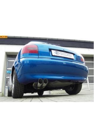 FOX Sportauspuff Audi A3 Typ 8L 1.6l  1.8l  1.8l T  1.9l TDI 2 ER 76mm  uneingerollt  DTM  ohne Absorber Edelstahl (AnschlussØ 63.5mm)