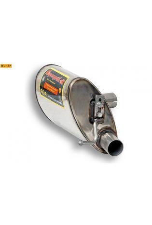 Supersprint Sportauspuff Endschalldämpfer links ohne Endrohr - Jaguar S-Type 3.0 - 4.0 ab 99 und 4.2i ab 02 und S-Type R 4.2i ab 02