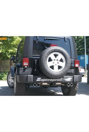Supersprint Sportauspuff Endschalldämpfer rechts-links je 2x80 rund - Jeep Wrangler JK Unlimited 3.8i ab 06