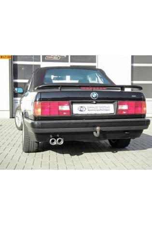 FOX Sportauspuff ab Kat. BMW 3er E30 Limo Touring Cabrio 320i 325i 2 x 76mm Absorber