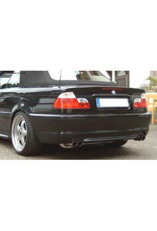 FOX Sportauspuff Duplex Endschalldämpfer Edelstahl BMW E46 Bj. 98-00  2.0l  2.5l  2.8l  rechts  links je 2 ER 70mm  uneingerollt  gerade  ohne Absorber
