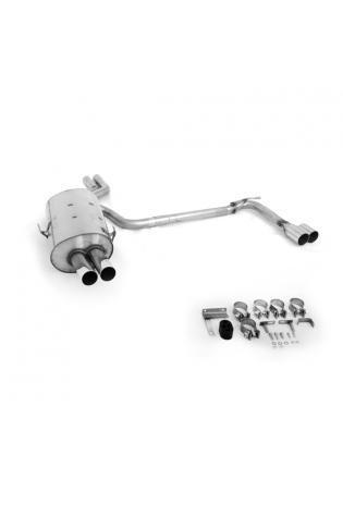 BMW 3er E46 Limousine Touring Coupe Cabrio 2.0l  2.2l  2.5l  2.8l  3.0l FOX Duplex Sportauspuff rechts  links je 2 ER 70mm  uneingerollt  gerade  ohne Absorber
