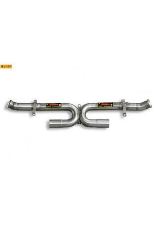 Supersprint Sportauspuff X-Rohr rechts-links anstelle Kat. - Porsche 911 Typ 993 Carrera u. Carresa 4 3.6i und Carrera S u. 4S 3.6i Bj. 94-98