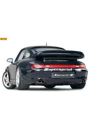 Supersprint Sportauspuff Duplex-Endschalldämpfer rechts-links 2x60 rund - Porsche 911 Typ 993 3.6i Turbo und Turbo S 4x4 ab Bj. 95