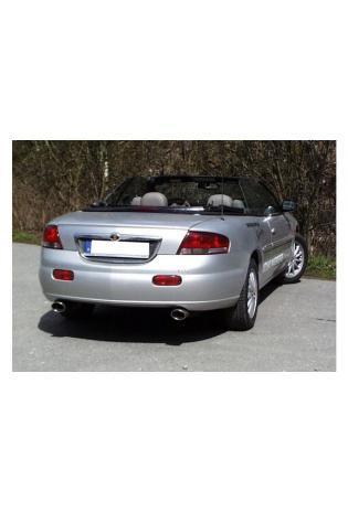FOX Sportauspuff Duplex Endschalldämpfer Edelstahl Chrysler Sebring  2.7l  rechts  links je 1 ER 115x85mm oval  eingerollt  abgeschrägt  mit Absorber